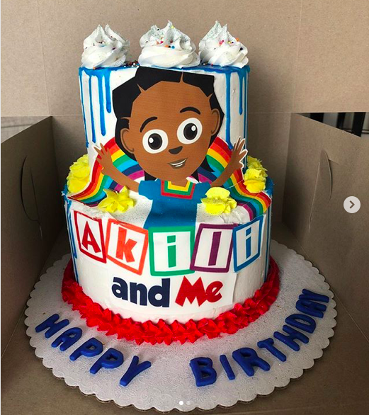 Pleasant Akili And Me Birthday Cake Hand Painted Cookies And More Ubongo Funny Birthday Cards Online Fluifree Goldxyz